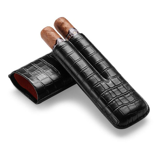 Cigar Case - Croco: Double - BOGMAR