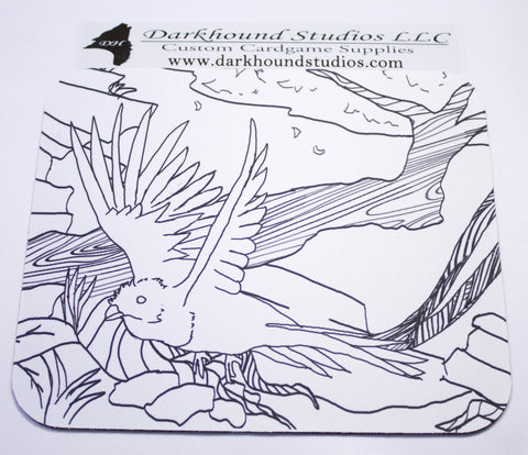 Paradise Bird Mousepad Color Your Own