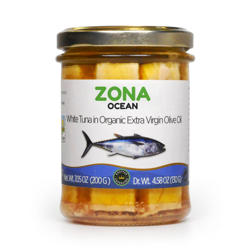 ZONA Ocean White Tuna in Organic Extra Virgin Olive Oil MSC Certified