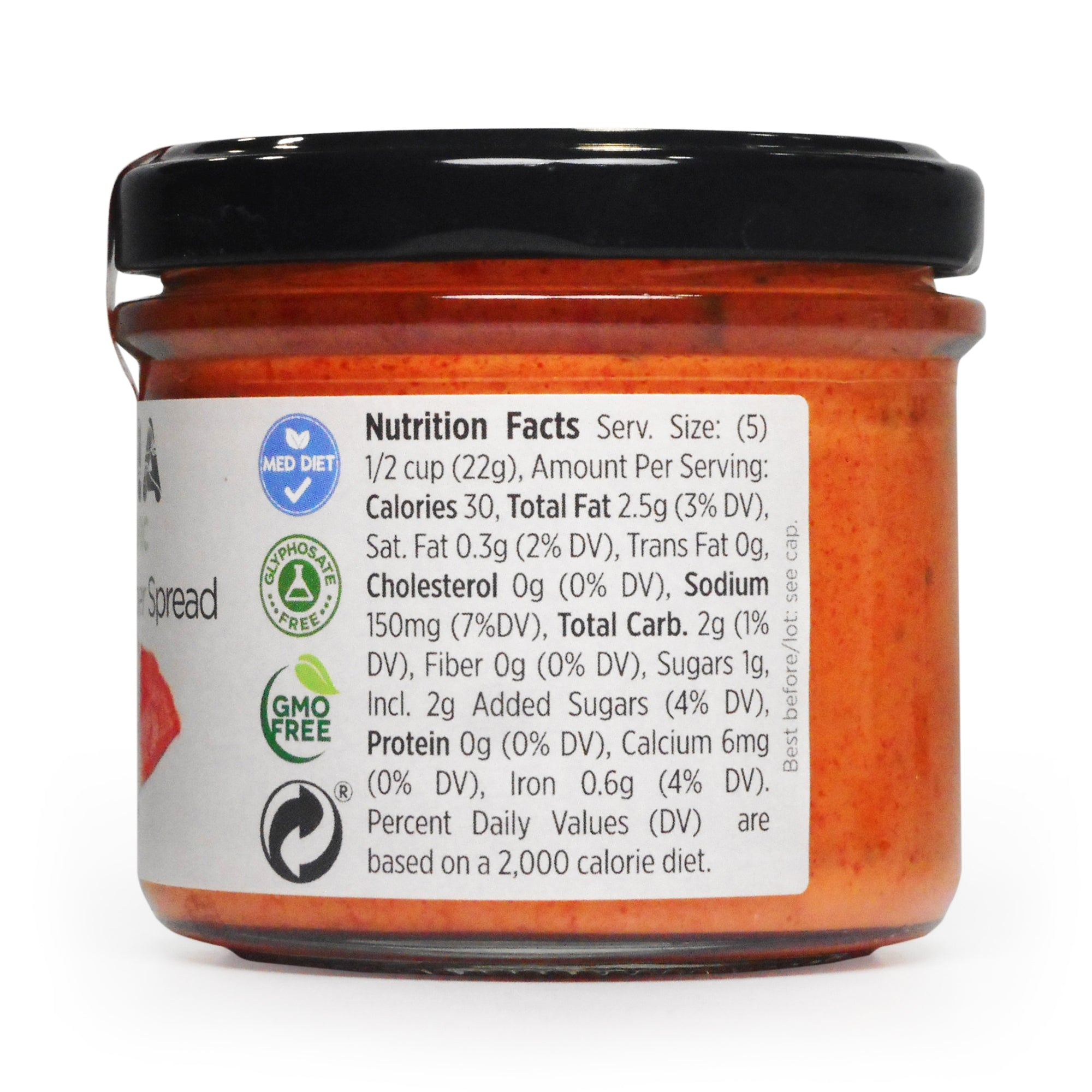 Low Sodium Organic Piquillo Pepper Spread