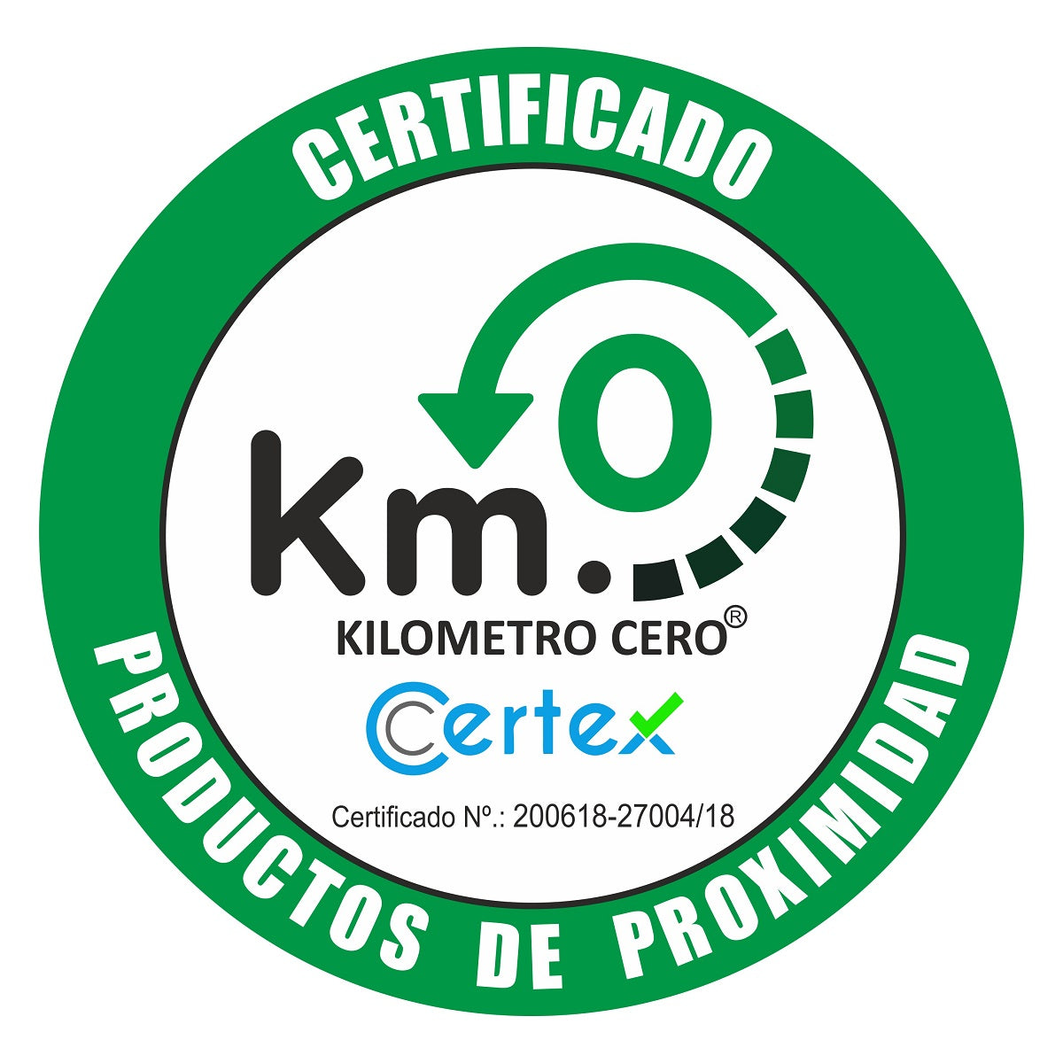 Kilometro Cero km.0 certification locally grown by local farmers