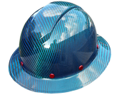 Blue Carbon Fiber Hard Hat
