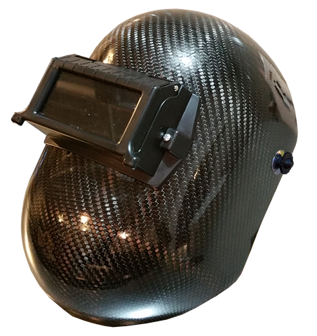 Carbon Fiber Welding Helmet - Pipeline Style - Matte or High Gloss