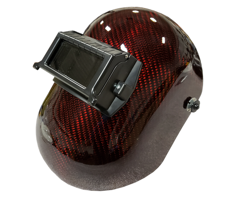 Red Carbon Fiber Welding Helmet - Pipeline Style - Matte or High Gloss