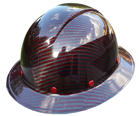 Red Carbon Fiber Hard Hat