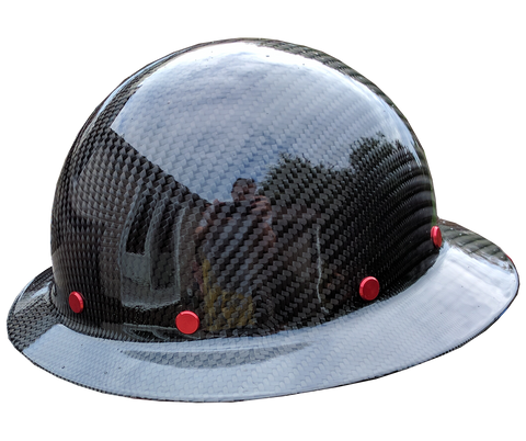 Smooth Crown Carbon Fiber Hard Hat - Full Brim