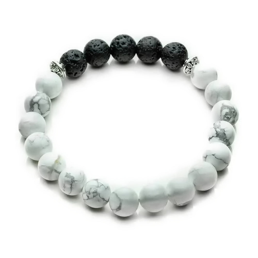 Load image into Gallery viewer, Children's Howlite Diffuser Bracelet
