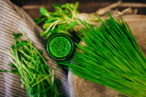 Load image into Gallery viewer, Organic Wheatgrass, Sunflower Sprouts and Pea Sprouts