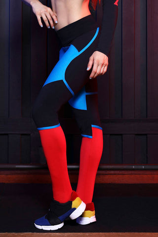 CANOAN Attitude Colored Cuttings Workout Tights