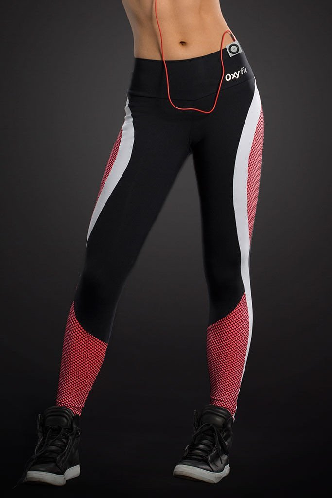 OXYFIT Wire Red Shin Running Leggings
