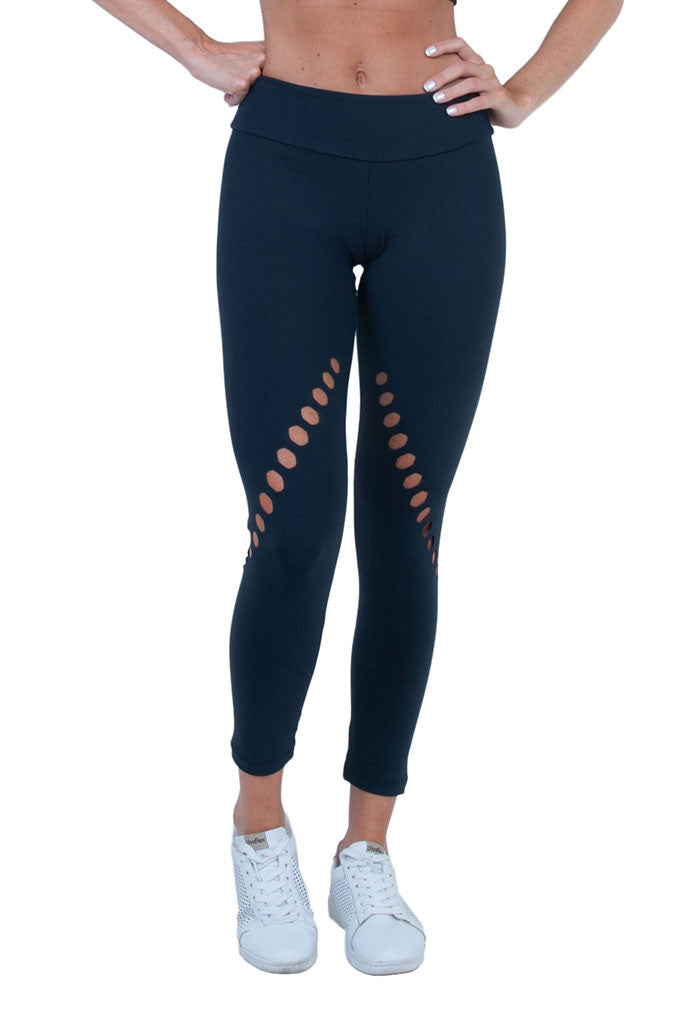 BIA BRAZIL Black Anticellulite Hexagonal Cut Designed Pilates Leggings