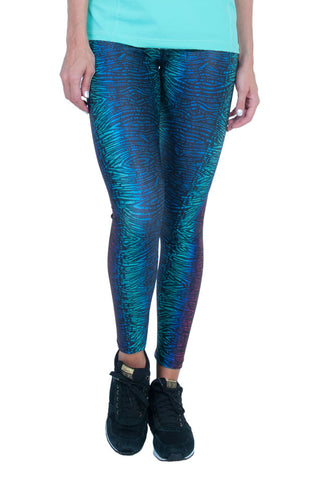 BIA BRAZIL Coraline Print Fashion Blue Workout Tights