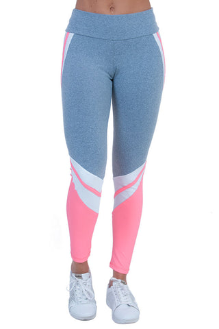 BIA BRAZIL Pink Detailed Legs Light Gray Supplex Workout Leggings