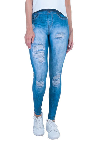BIA BRAZIL Ripped Jeans Style Blue Outwear Leggings