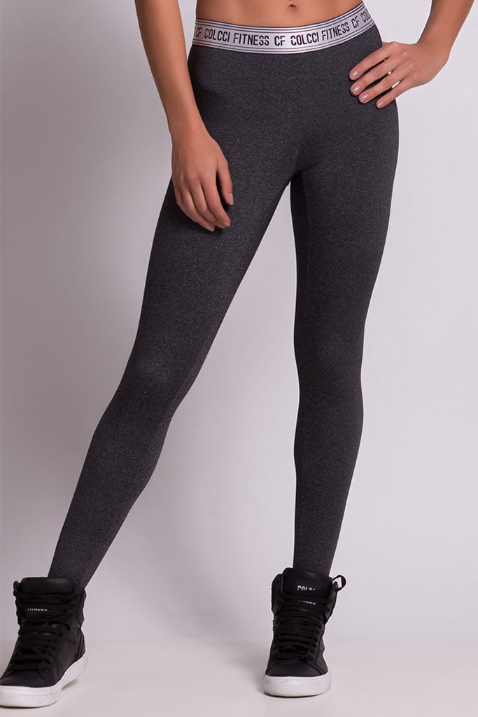 COLCCI FITNESS BASIC GRAY RUNNING TIGHTS