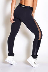 COLCCI FITNESS Meshed Thighs Cire Shin Fashion Crossfit Legging