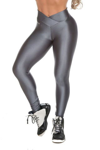 GAROTA FIT Gray Sexy Cire Workout Tights