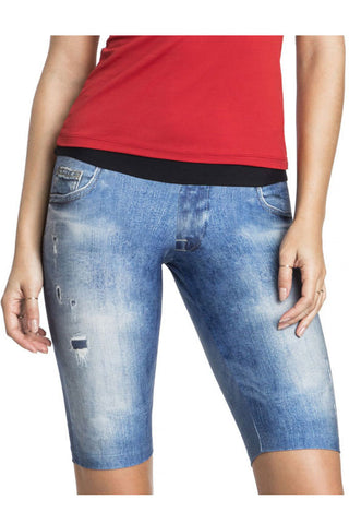 LIVE Denim Basic Biker Short