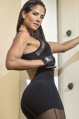 SUPERHOT Intense Full black Workout Jumpsuit