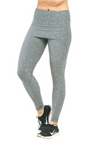 TRAILLINE Mix Paola Gray Workout Leggings