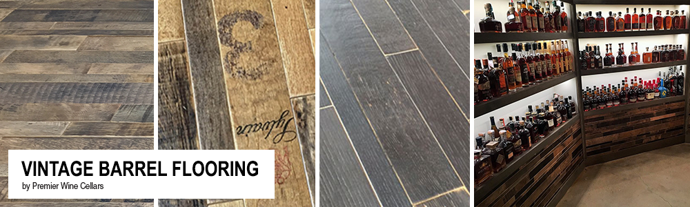 Vintage Barrel flooring provides a unique selection of whiskey and wine barrel flooring for your dream cellar. Use this unique wood on tabletops walls or ... & Vintage Barrel Flooring u2013 Premier Wine Cellars