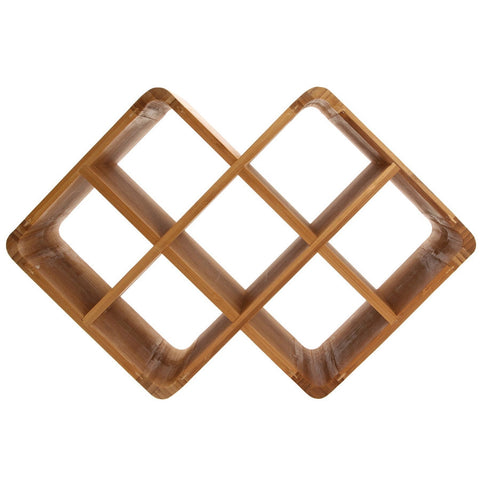 Bamboo 8 Bottle Cube Wine Rack