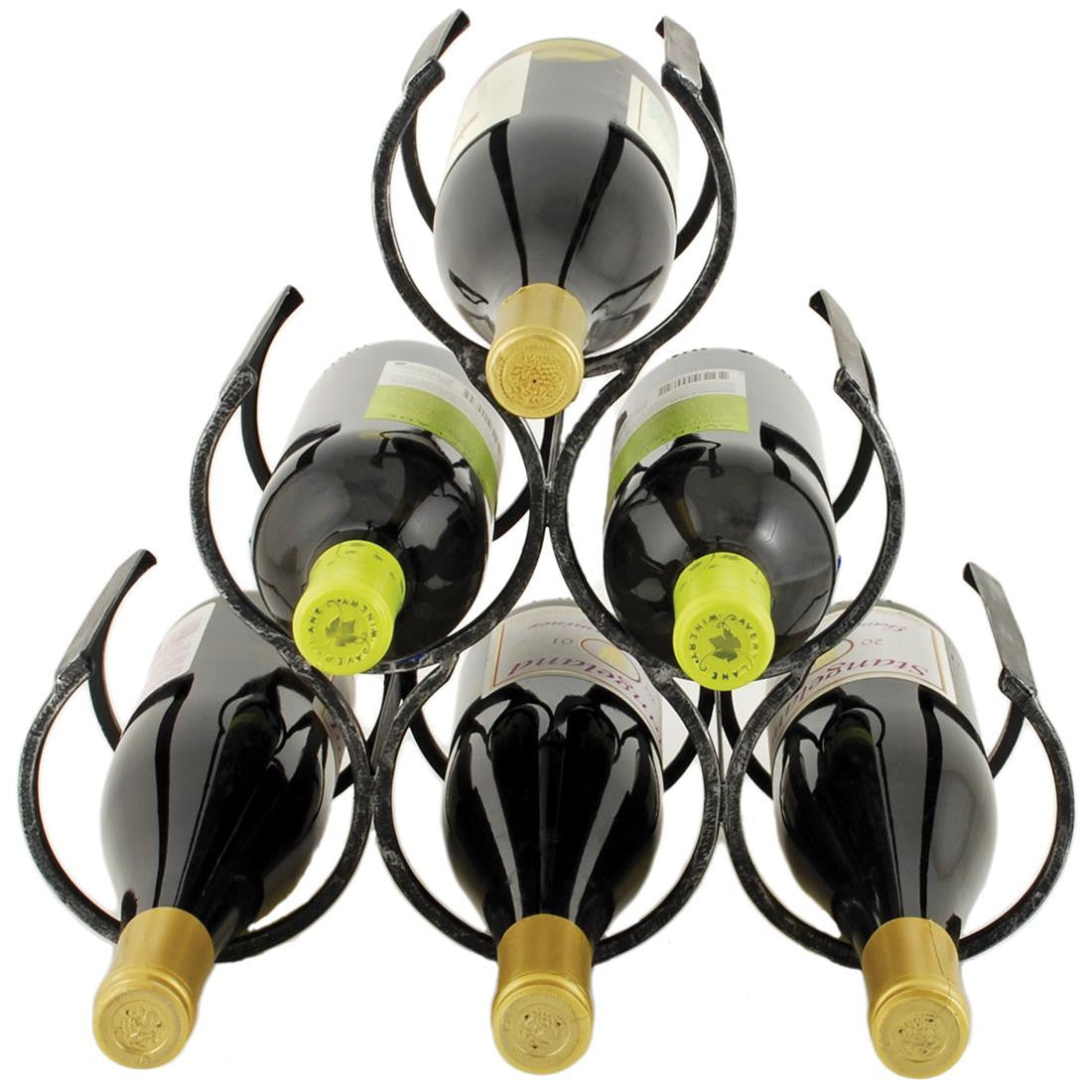 Country Home Wine Shrine 6 Bottle Rack - Black