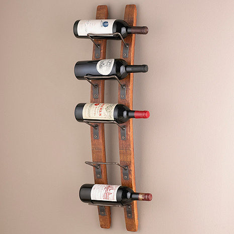 Barrel Stave Wall Wine Rack