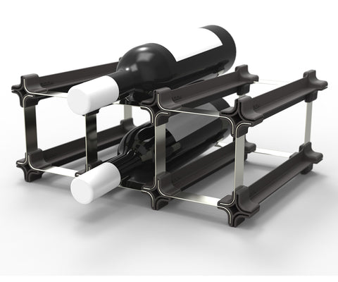 Stact Wine Rack - Piano Black