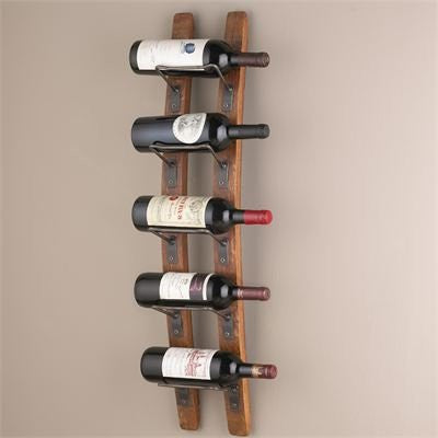 12 Bottle Mini Scalloped Wine Rack - Redwood