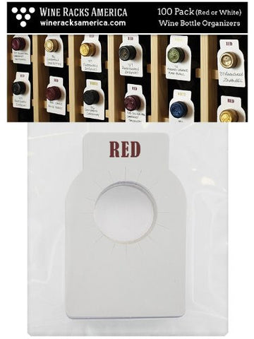 Dual-Labeled (Red/White) Wine Cellar Bottle Tags