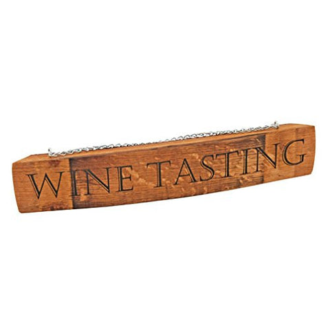Grapevine Barrel Stave Tasting Sign