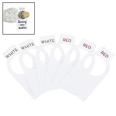 100 Pack Wine Tags w/ Erasable Pen