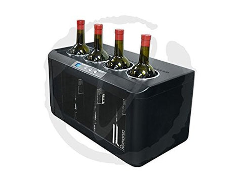 Silent 12 Bottle Wine Cooler (Stainless Steel/Wood Shelves)