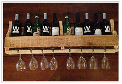 Reclaimed Pallet Wine Rack - 10 Bottle (Natural)