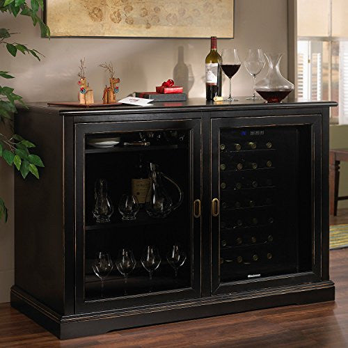 Siena Mezzo Wine Credenza w/ 28 Bottle Touchscreen Wine Refrigerator