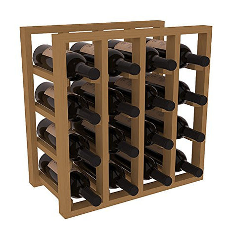 16 Bottle Lattice Wine Rack - Pine