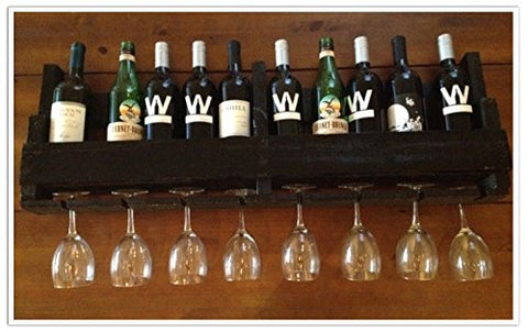 Reclaimed Pallet Wine Rack - 10 Bottle (WALNUT)