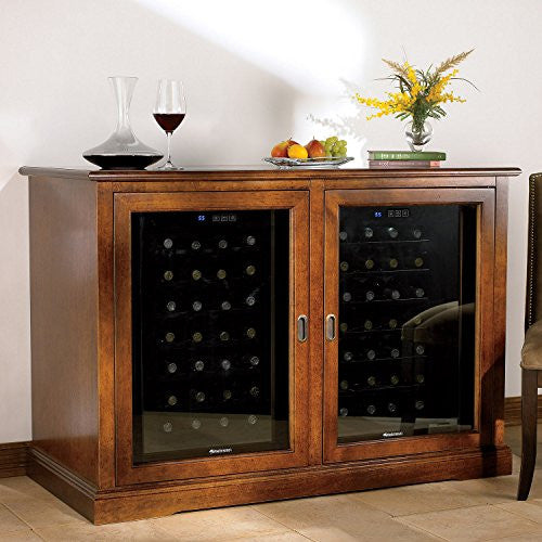 Siena Mezzo Wine Credenza w/two 28 Bottle Touchscreen Wine Refrigerators