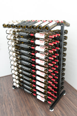 VintageView - 234 Bottle Full Aisle Wine Rack