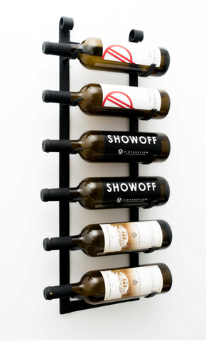 VintageView Le Rustique - 6 Bottle Decorative Wine Rack