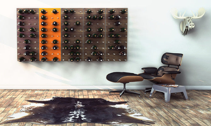 Stact Wine Rack - Electric Orange