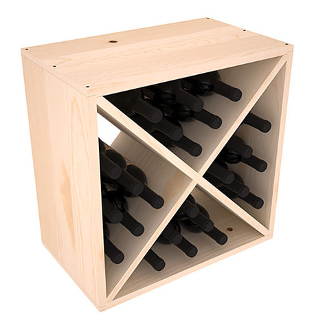 36 Bottle Stackable Wine Shelving - Redwood