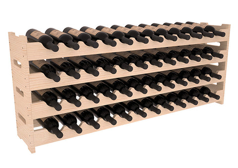 48 Bottle Scalloped Wine Rack - Pine