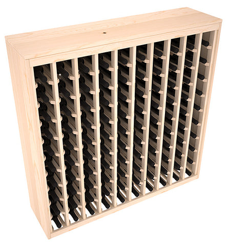 100 Bottle Deluxe Style Wine Rack - Pine