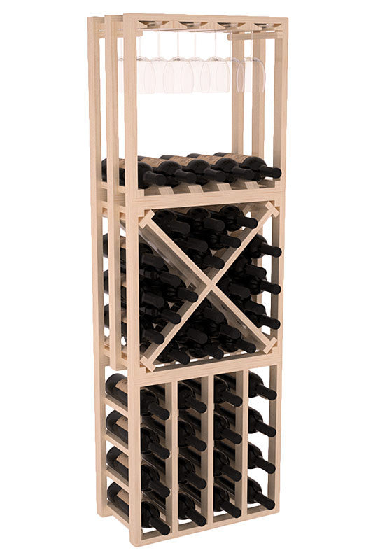 45 Bottle Stacking Lattice Cubes (3 PC) - Pine