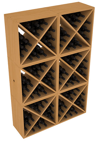 24 Bottle Solid X-Cube (x6) - Pine