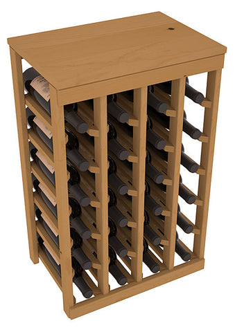 24 Bottle Table Top Wine Rack - Pine