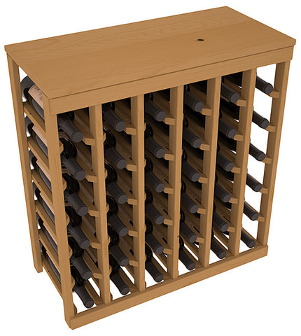 36 Bottle Table Top Wine Rack - Pine