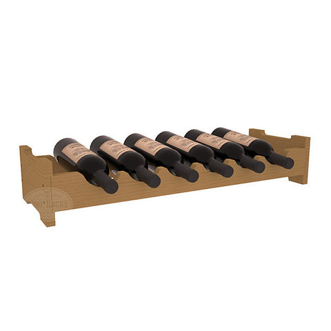 6 Bottle Mini Scalloped Wine Rack - Pine